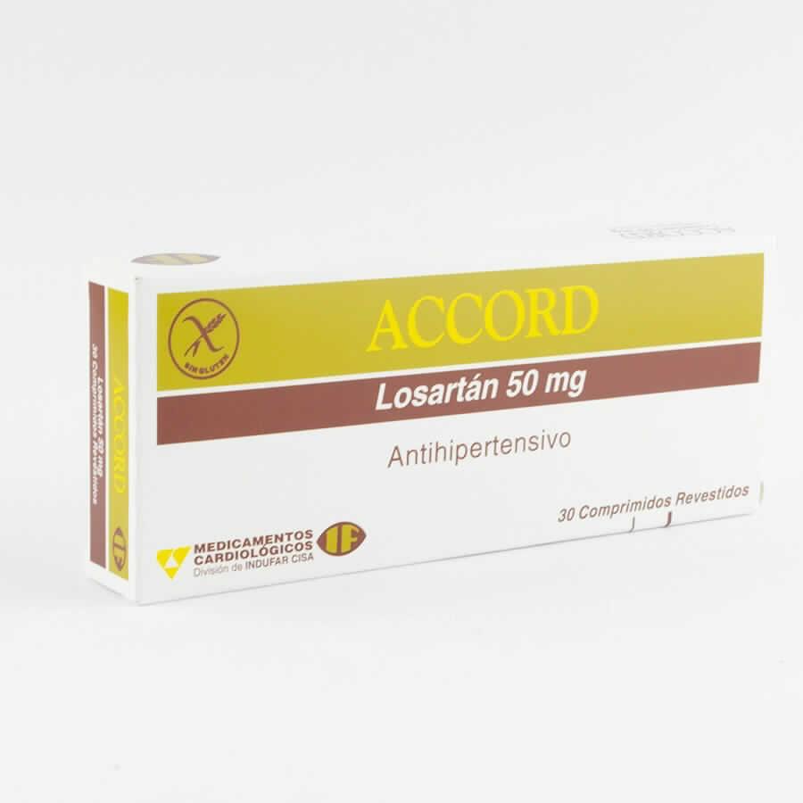 Imagen de producto: ACCORD Losartán 50 mg. 30 Comprimidos