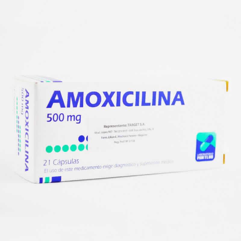 Imagen de producto: AMOXICILINA 500mg - Caja de 21 cápsulas