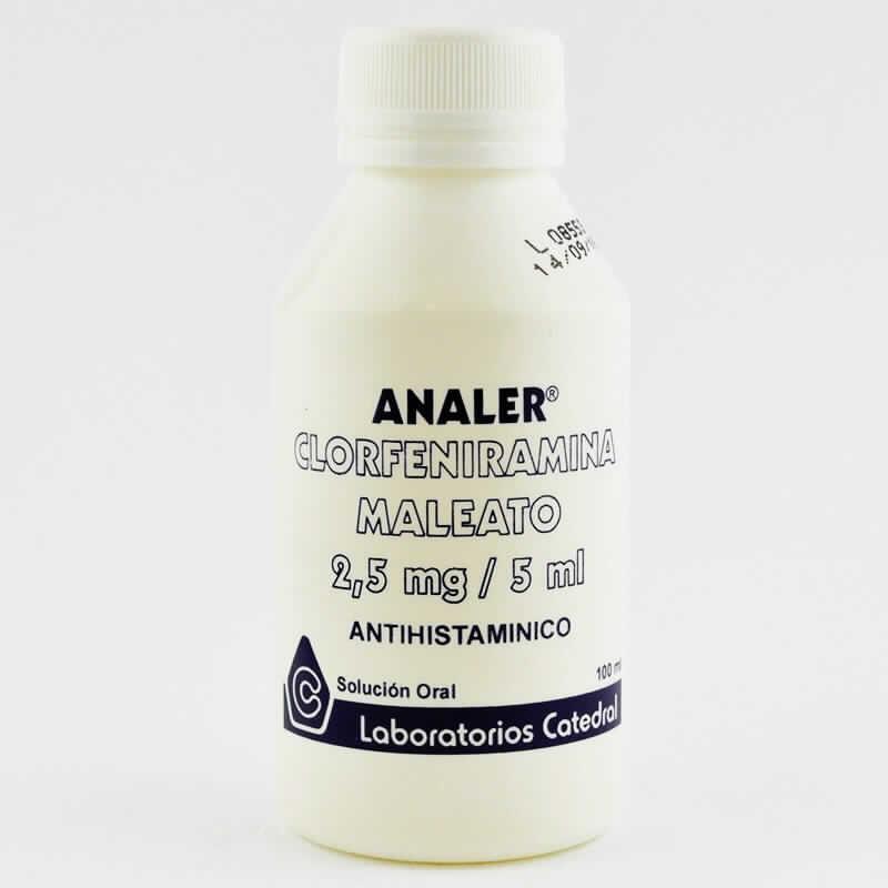 Imagen de producto: ANALER® Clorfeniramina Maleato 2,5mg/5ml - 100ml