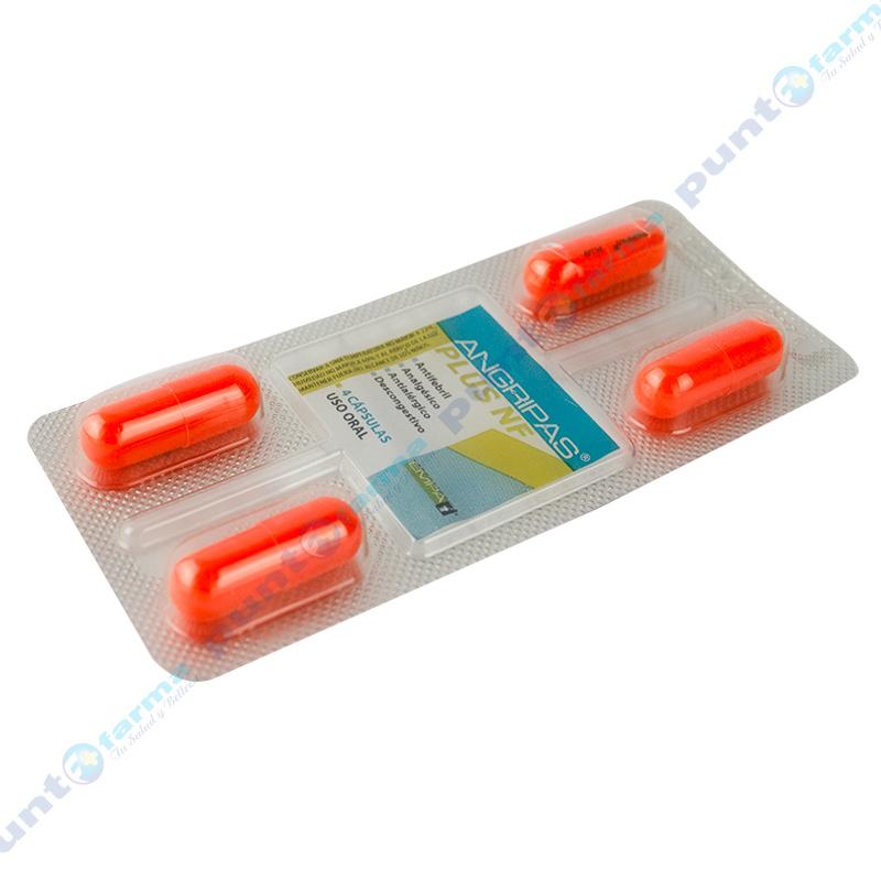 Imagen de producto: ANGRIPAS® PLUS NF - Tira de 4 cápsulas