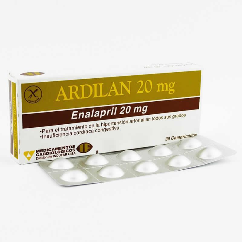 Imagen de producto: ARDILAN ENALAPRIL 20 MG 30 Comprimidos