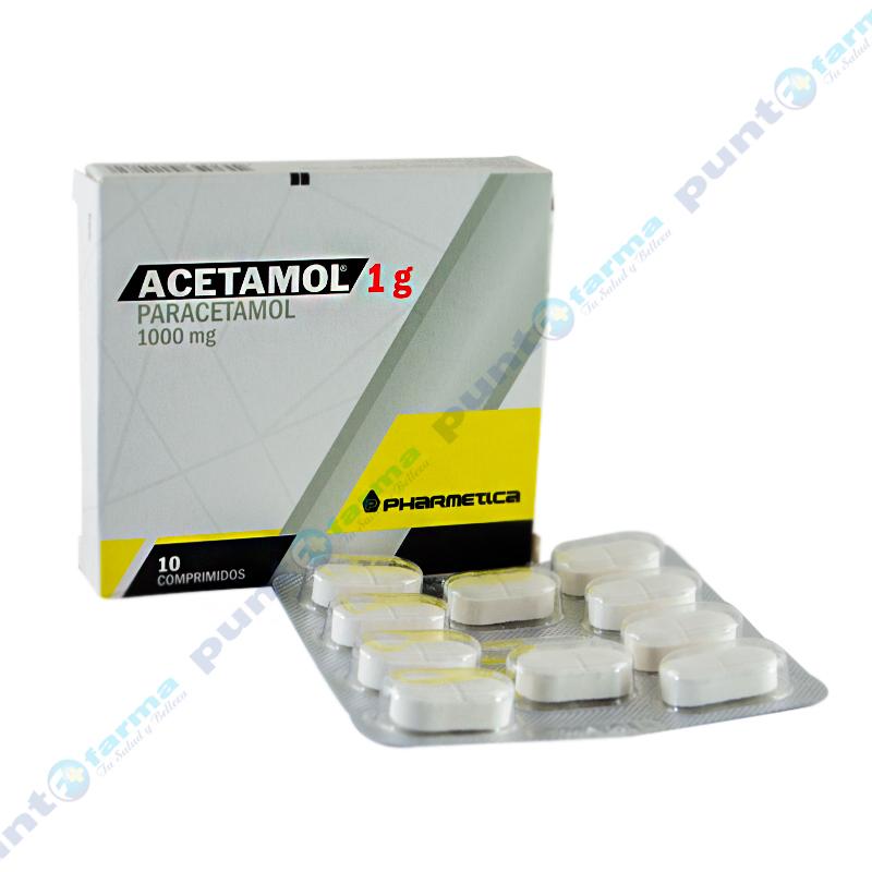 Imagen de producto: Acetamol 1g Paracetamol 1000mg - Caja de 10 comprimidos