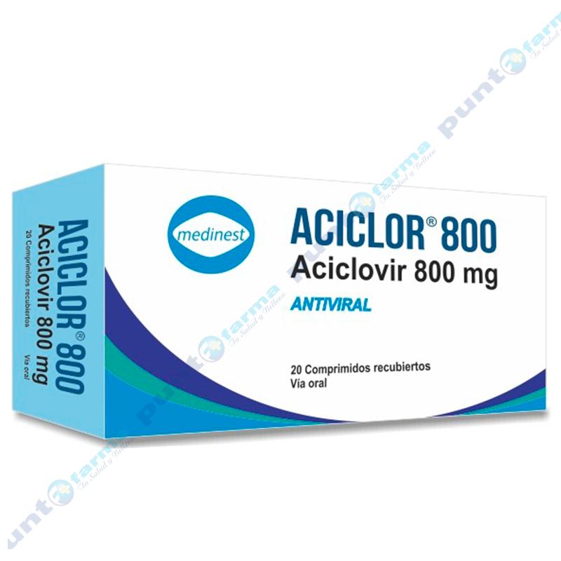 Imagen de producto: Aciclor® 800mg - Caja de 5 comprimidos