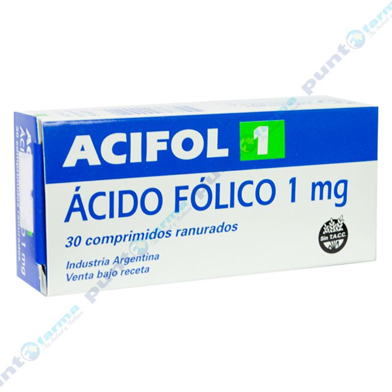Imagen de producto: Acifol 1 -  Caja de 30 comprimidos