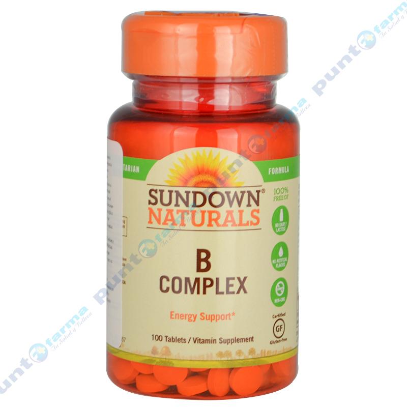 Imagen de producto: B COMPLEX Sundown® Naturals - Cont. 100 comprimidos