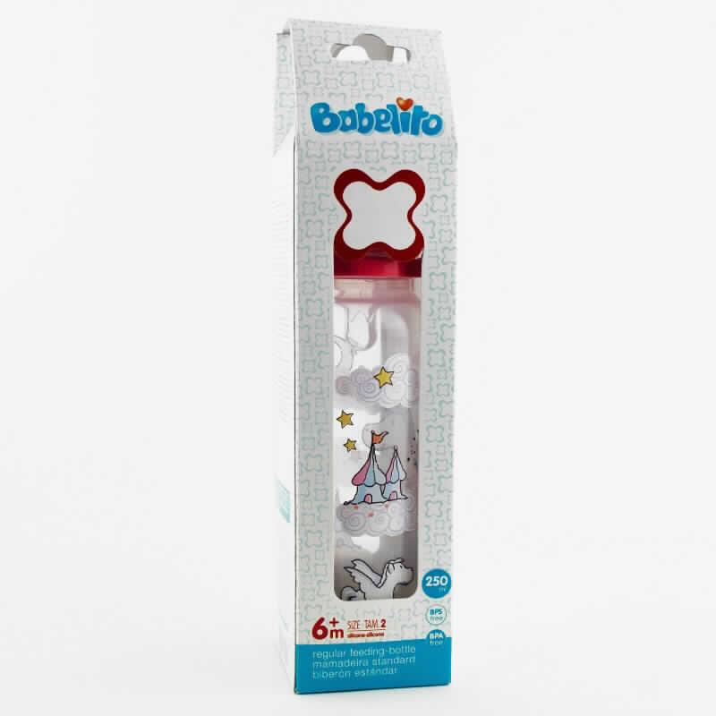 Imagen de producto: Biberón tetina de silicona n°2 250ml - BABELITO