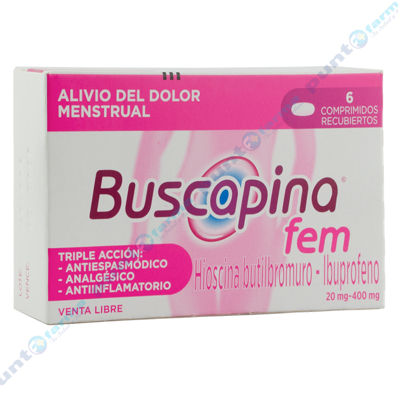 Imagen de producto: Buscapina® Fem - Caja de 6 comprimidos