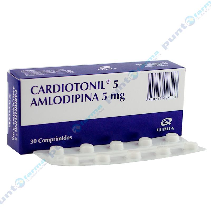 Imagen de producto: CARDIOTONIL® 5 Amlodopina 5mg - Caja de 30 comprimidos