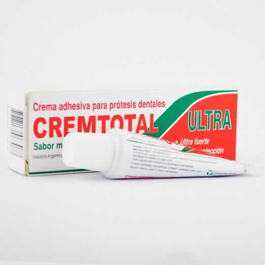 Imagen de producto: CREMTOTAL Sabor Menta Crema adhesiva para prótesis dentales  - Contenido neto de 2 g.