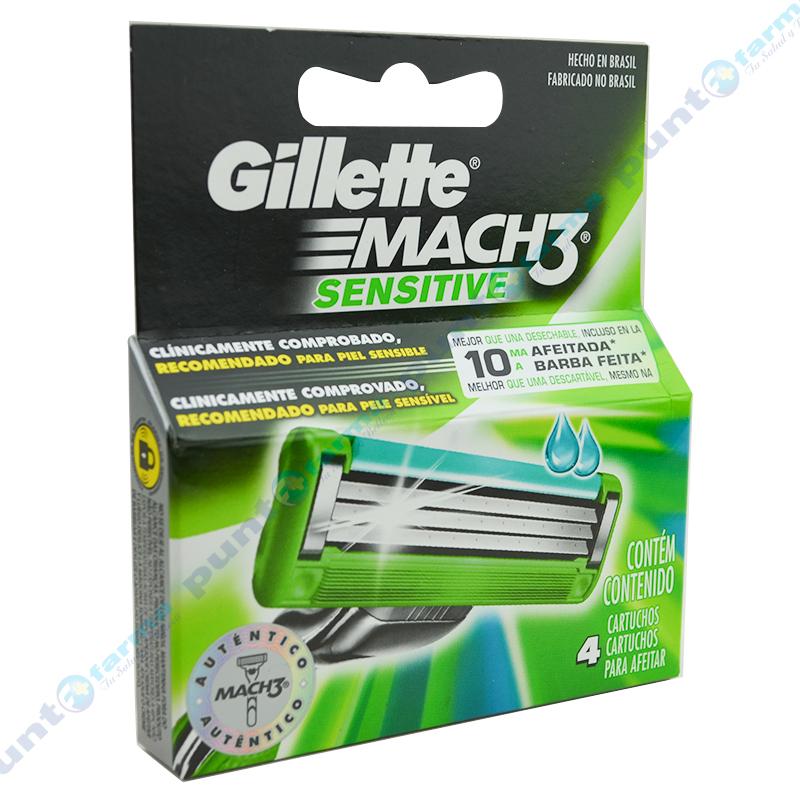 Imagen de producto: Cartuchos de repuesto Gillette® MACH3® Sensitive - Contiene 4 cartuchos