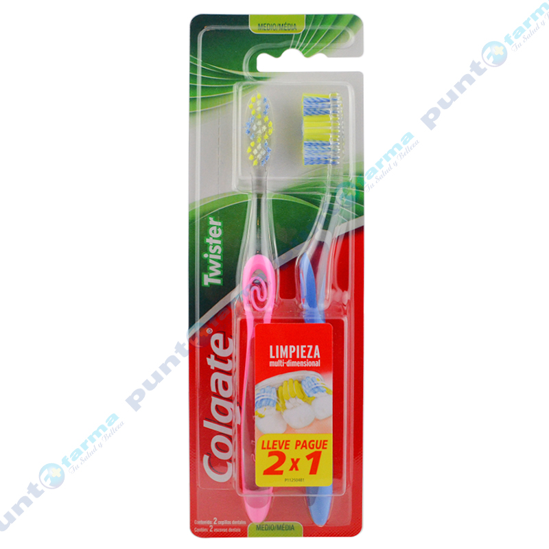 Imagen de producto: Cepillo Dental COLGATE® Twister - Cont. 2 unidades