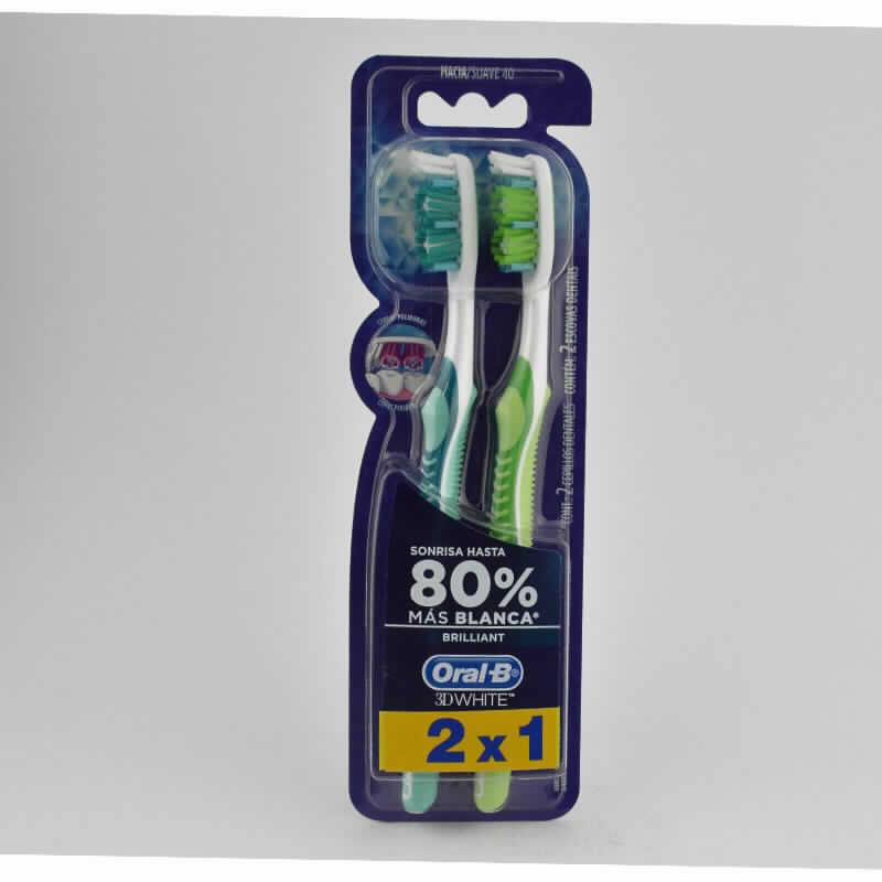 Imagen de producto: Cepillo dental Oral -B® 3D WHITE - Contenido 2x1