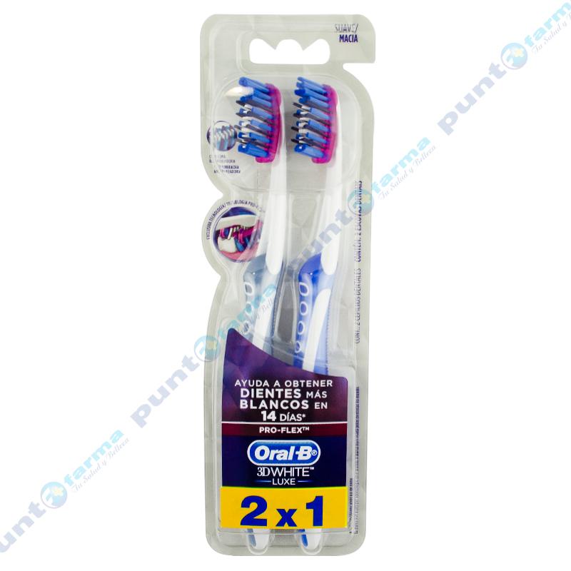 Imagen de producto: Cepillos Dentales Oral-B® 3D White Luxe Pro-Flex - Pack de 2 unidades