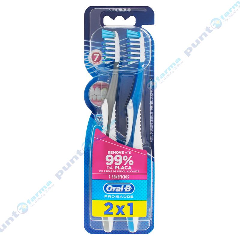 Imagen de producto: Cepillos Dentales Oral-B® 7 Beneficios 2x1 -  Cont. 2 unidades