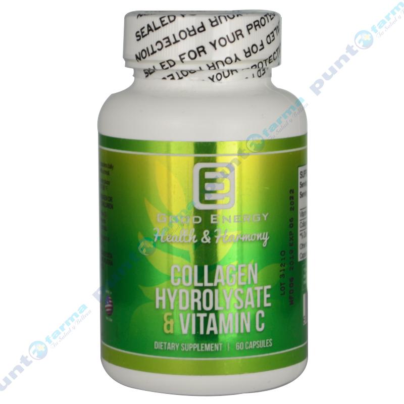 Imagen de producto: Collagen Hydrolysate & Vitamin C Good Energy - Cont. 60 cápsulas