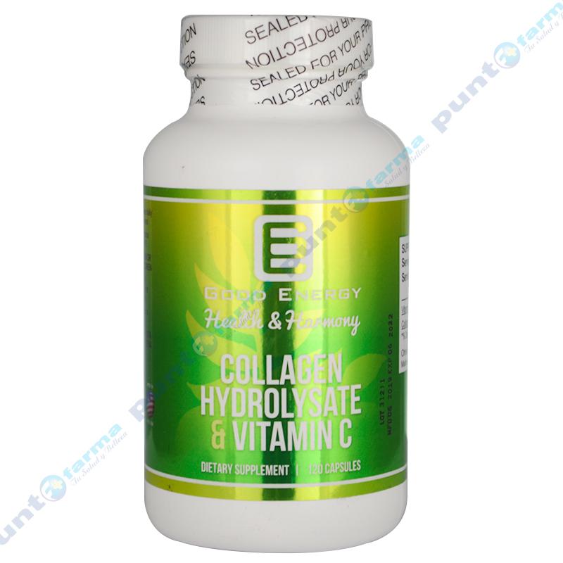 Imagen de producto: Collagen Hydrolysate & Vitamina C Good Energy  - Cont. 120 cápsulas