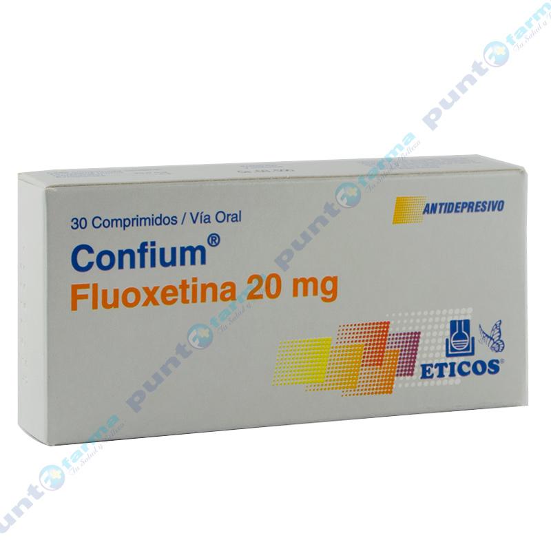 Imagen de producto: Confium® Fluoxetina 20 mg - Caja de 30 comprimidos