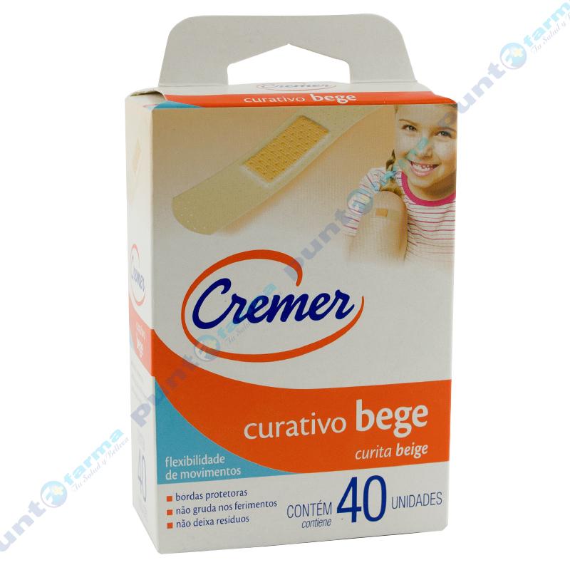 Imagen de producto: Curita CREMER Beige - Contenido de 40 unidades