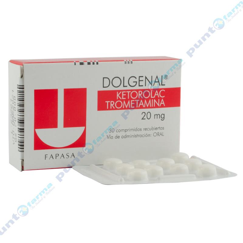 Imagen de producto: DOLGENAL® Ketorolac Trometamina 20 mg- Caja de 30 comprimidos recubiertos