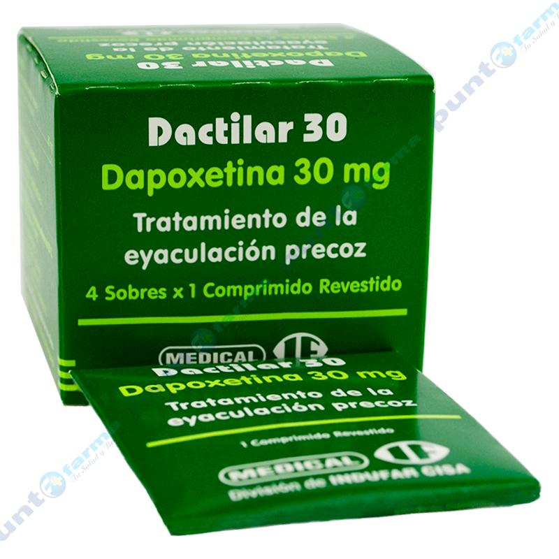 Imagen de producto: Dactilar 30 Dapoxetina 30 mg - Caja de 4 comprimidos