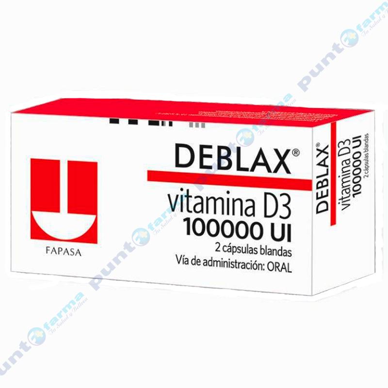 Imagen de producto: Deblax® Vitamina D3 - Caja de 2 cápsulas