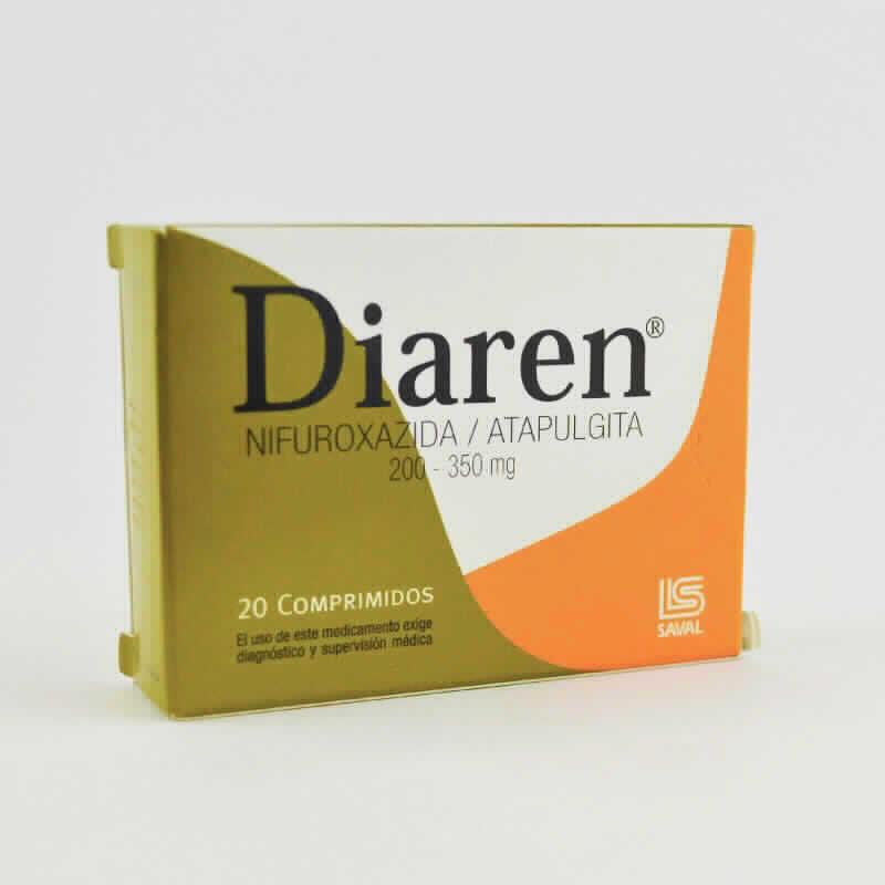 Imagen de producto: Diaren® Nifuroxazida Atapulgita - Caja de 20 comprimidos