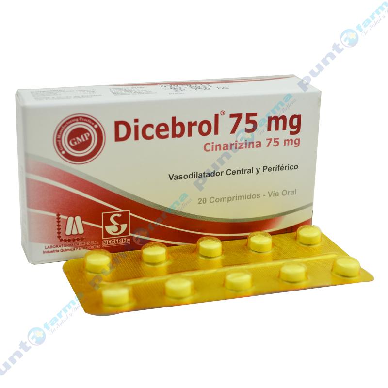 Imagen de producto: Dicebrol® 75mg - Caja de 20 comprimidos