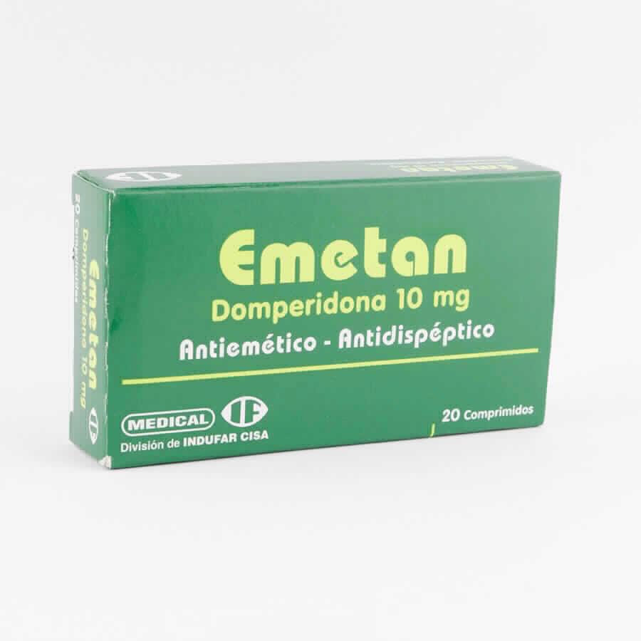 Imagen de producto: EMETAN Domperidona 10 mg. -  Caja de 20 comprimidos