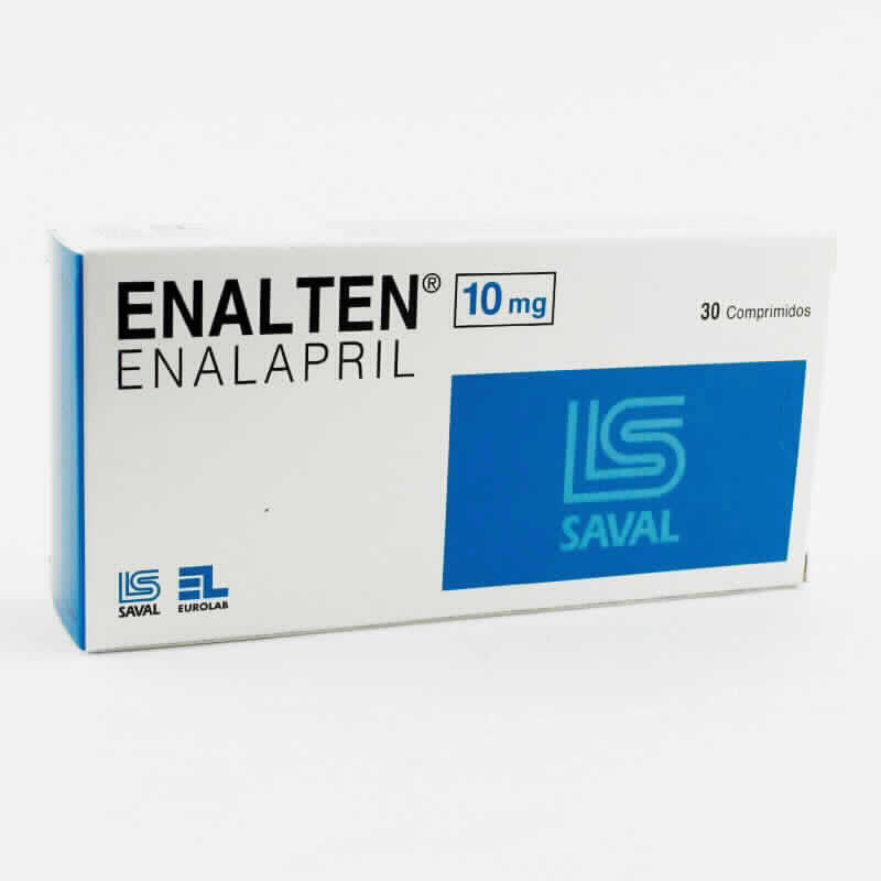 Imagen de producto: ENALTEN® 10mg Enalapril - Contenido de 30 comprimidos