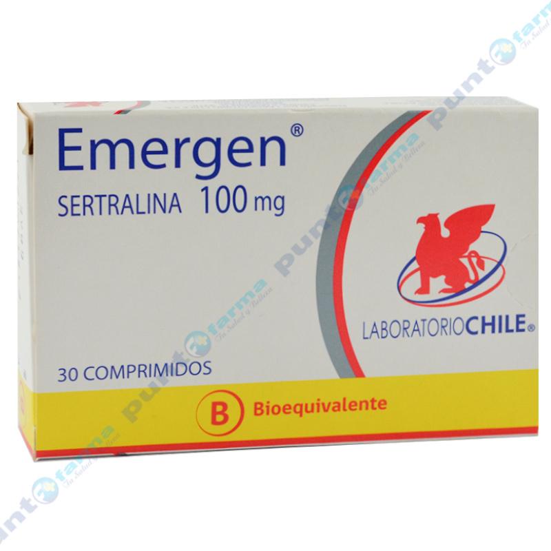 Imagen de producto: Emergen® Sertralina 100mg - Caja de 30 comprimidos