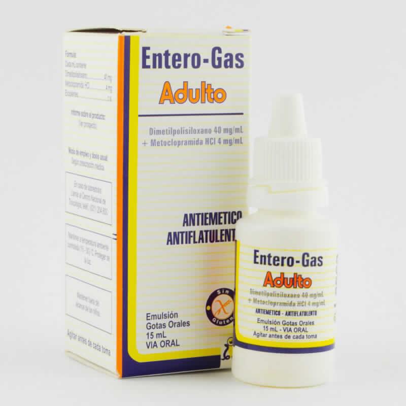 Imagen de producto: Entero-Gas Adulto Dimetilpolisiloxano 40 mg/mL + Metoclopramida HCI 4 mg/mL - Emulsión gotas orales