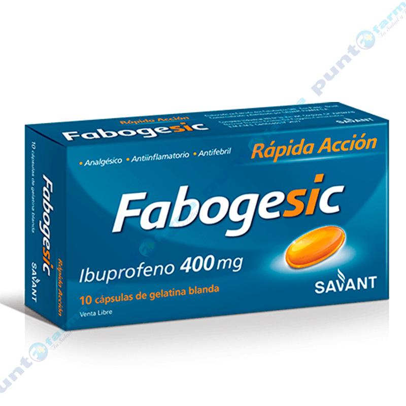 Imagen de producto: Fabogesic Ibuprofeno 400mg - Caja de 10 cápsulas