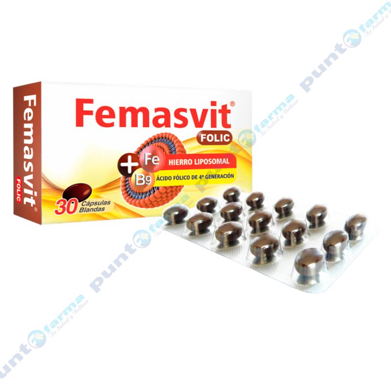 Imagen de producto: Femasvit® Folic - Caja de 30 cápsulas