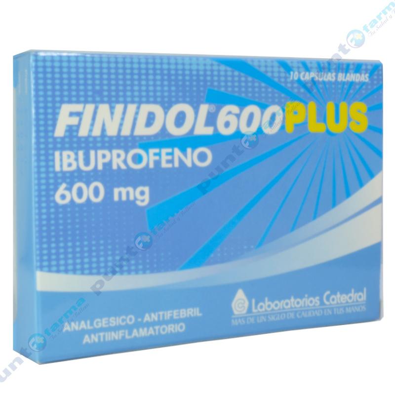 Imagen de producto: Finidol® 600 Plus - Caja de 10 cápsulas