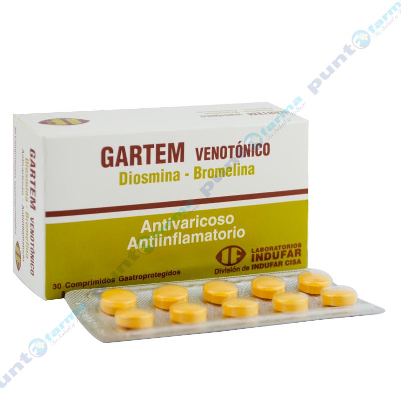 Imagen de producto: Gartem Venotónico - Caja de 30 comprimidos gastroprotejidos