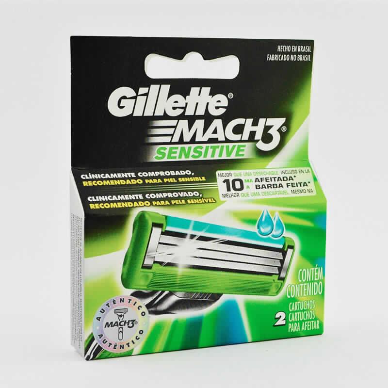 Imagen de producto: Gillette® Mach3® SENSITIVE - Contiene 2 cartuchos para afeitar