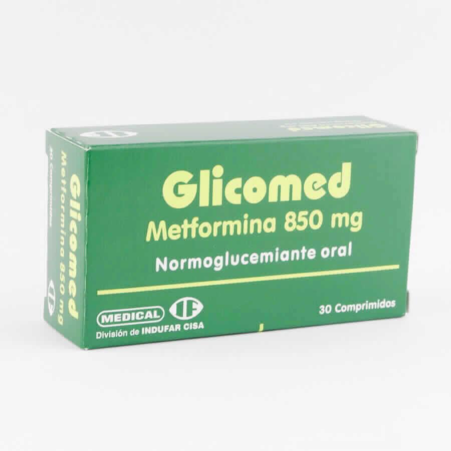 Imagen de producto: Glicomed Metformina 850 mg. - 30 Comprimidos