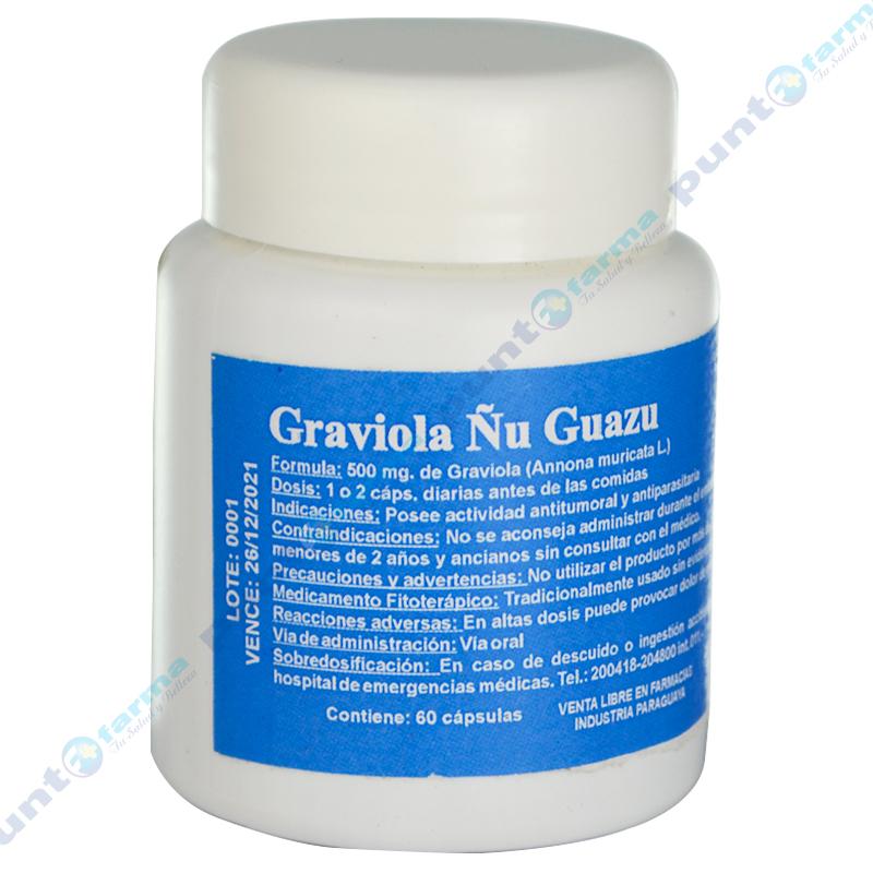 Imagen de producto: Graviola 500mg - Frasco de 60 cápsulas
