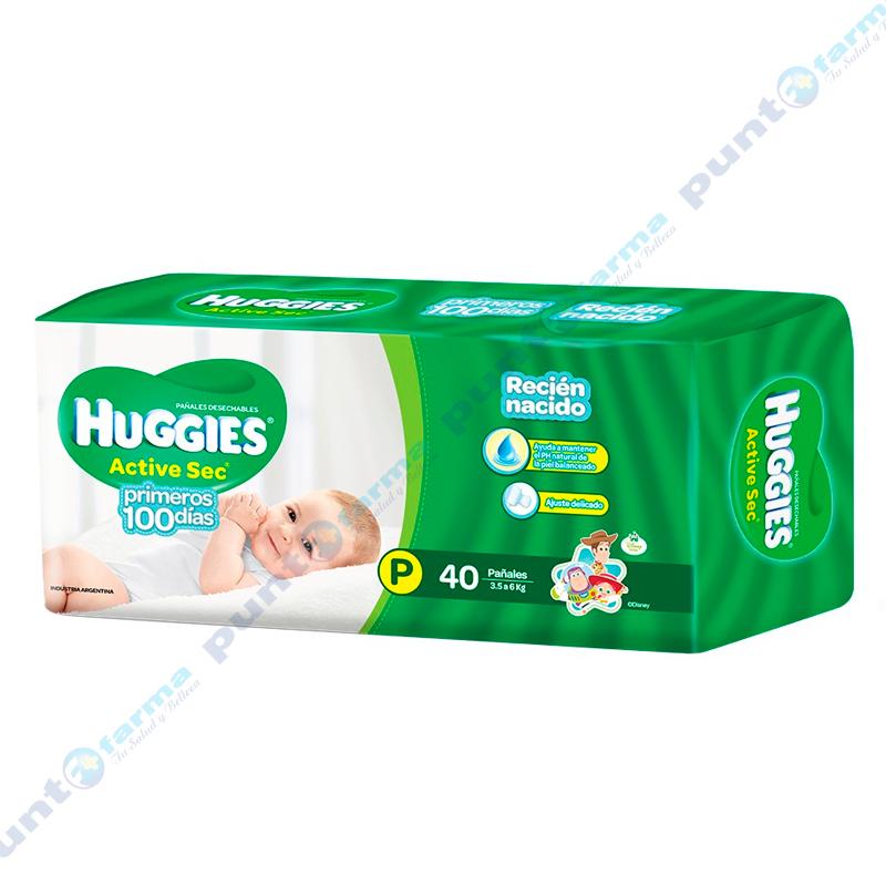 Imagen de producto: Huggies® Active Sec Primeros 100 dias P - Cont. 40 unidades