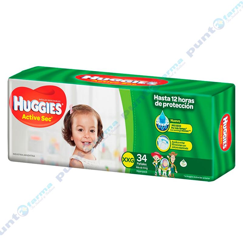 Imagen de producto: Huggies® Active Sec XXG - Cont. 34 unidades