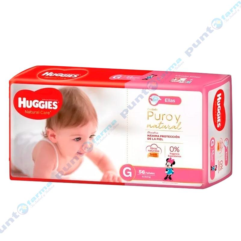 Imagen de producto: Huggies® Natural Care para ellas G - Cont. 56 unidades