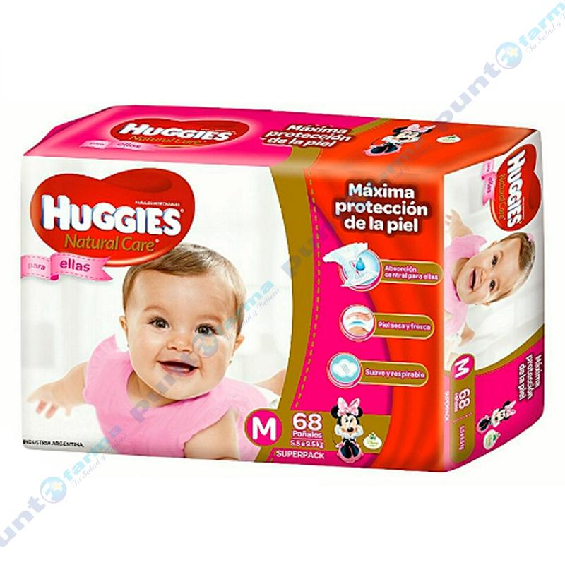 Imagen de producto: Huggies® Natural Care para ellas M - Cont. 68 unidades