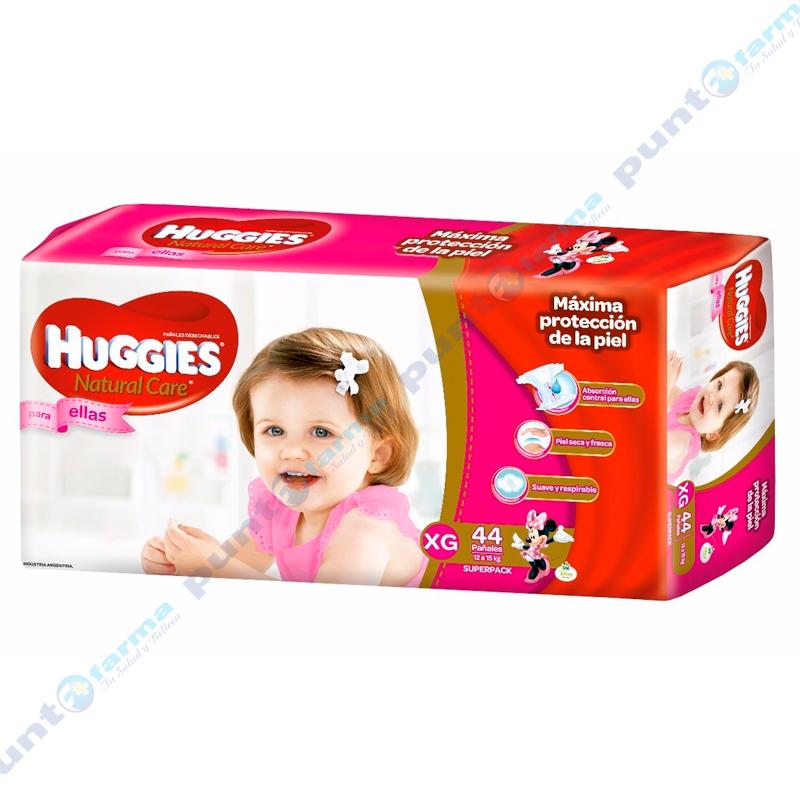 Imagen de producto: Huggies® Natural Care para ellas XG - Cont. 44 unidades