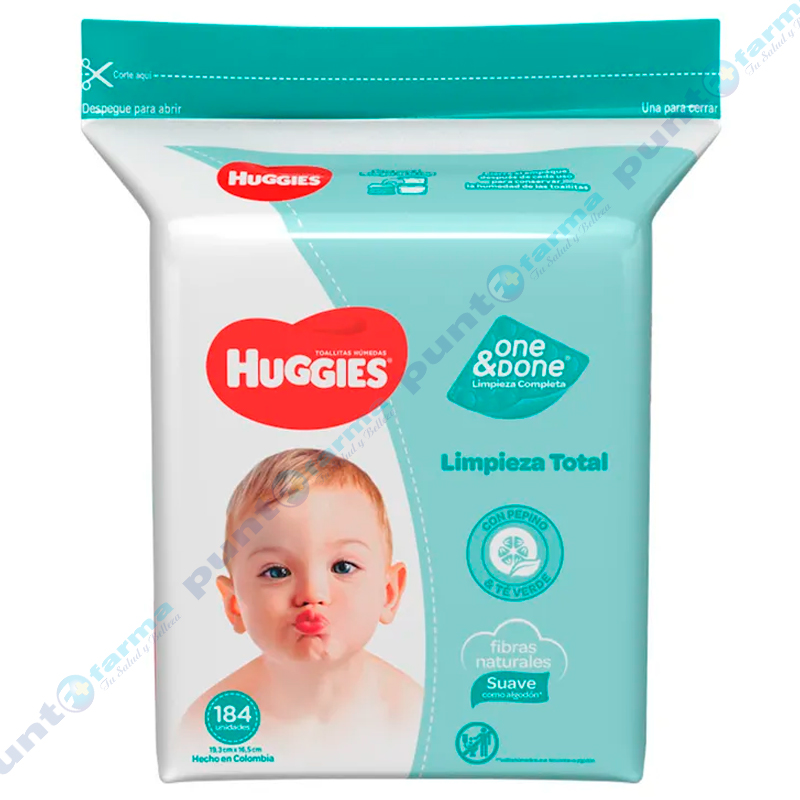 Imagen de producto: Huggies® Toallitas húmedas Limpieza Total - Cont. 184 unidades