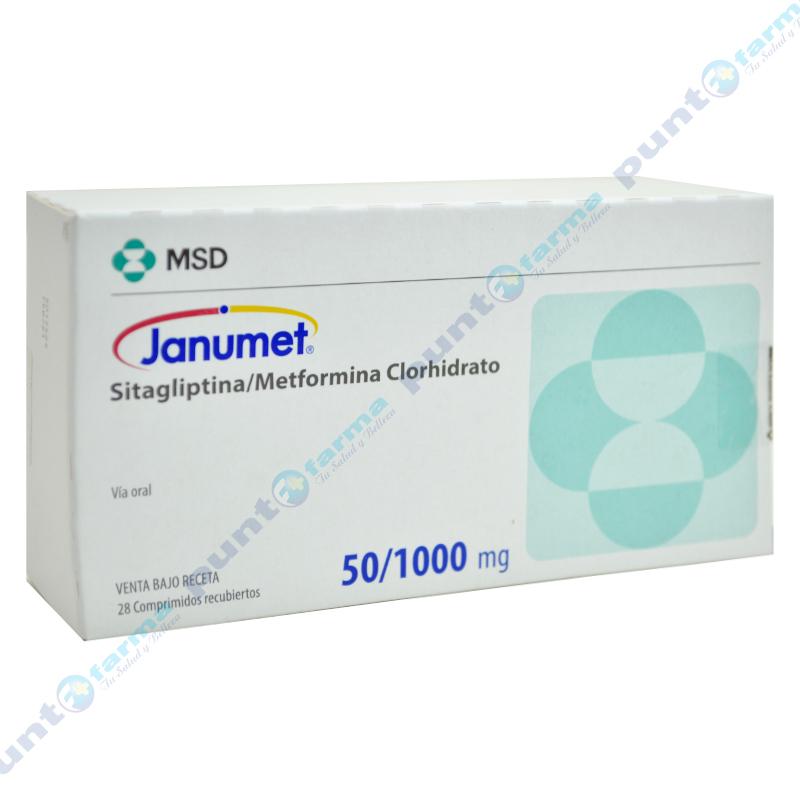 Imagen de producto: Janumet® 50/1000 mg - Caja de 28 comprimidos recubiertos