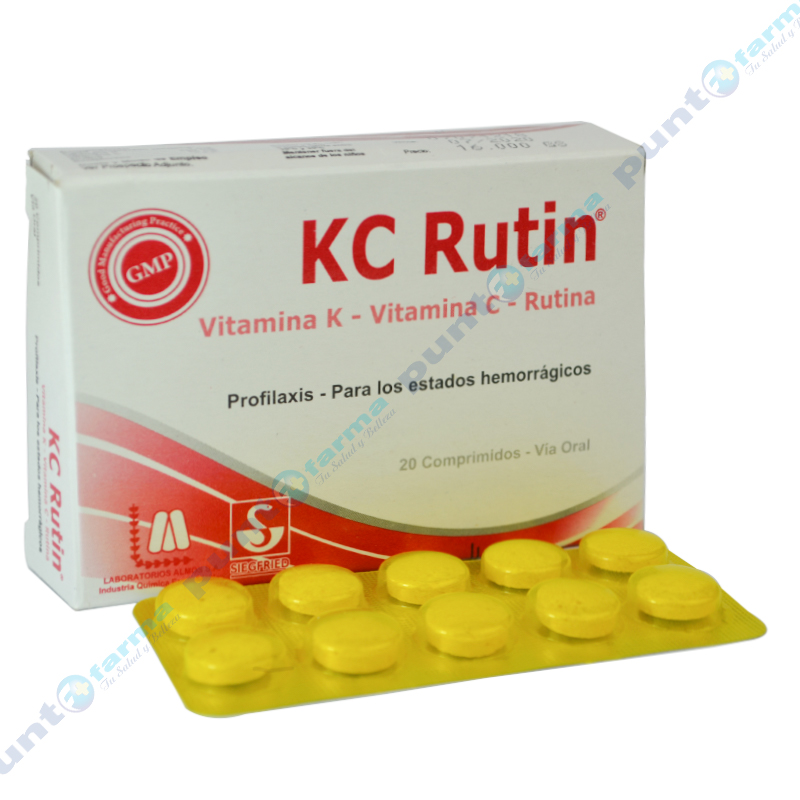 Imagen de producto: KC Rutin® - Caja de 20 comprimidos