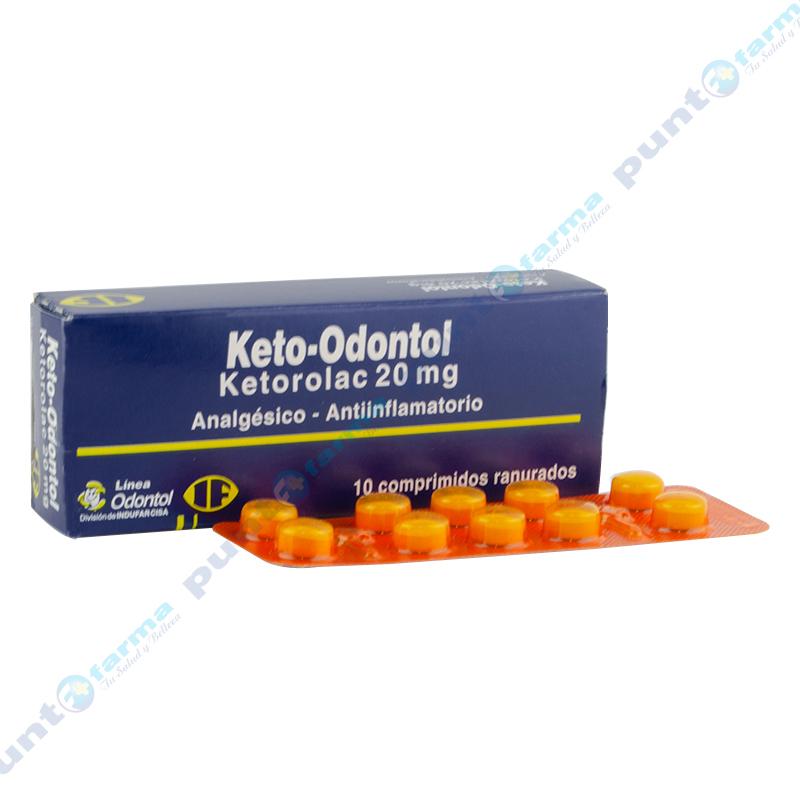 Imagen de producto: Keto-Odontol ketorolac 20 mg - Caja de 10 Comprimidos