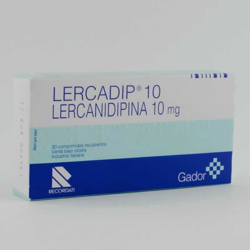 Imagen de producto: LERCADIP® 10 Lercanidipina 10 mg - Caja de 30 comprimidos recubiertos