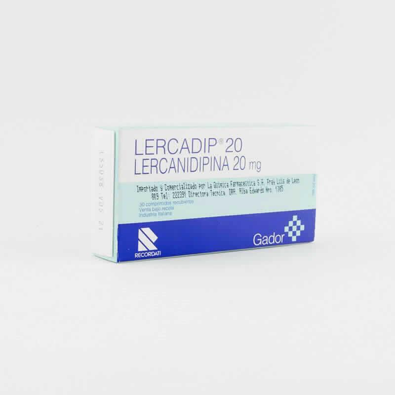 Imagen de producto: Lercadip® 20 - Caja de 30 comprimidos