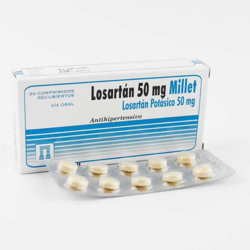 Imagen de producto: Losartán 50 mg  Losartán Potásico 50 mg - Contenido de 30 comprimidos recubiertos